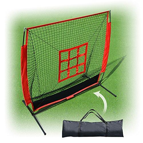 BenefitUSA 5'x5' Baseball Softball Practice Net With Strike Zone Target &Carry Bag by BenefitUSA