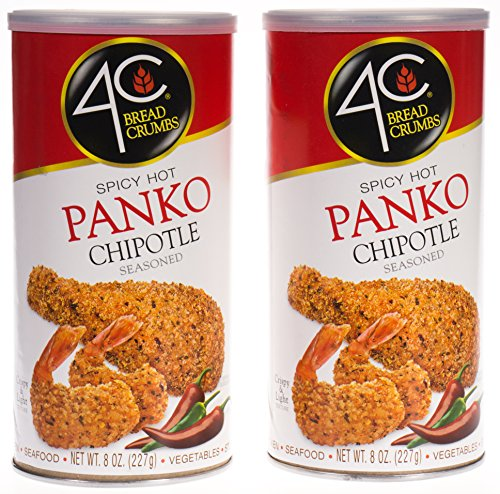 4C Spicy Hot Chipotle Panko Bread Crumbs 2 Pack-8 oz EACH Crispy Bread Crumbs
