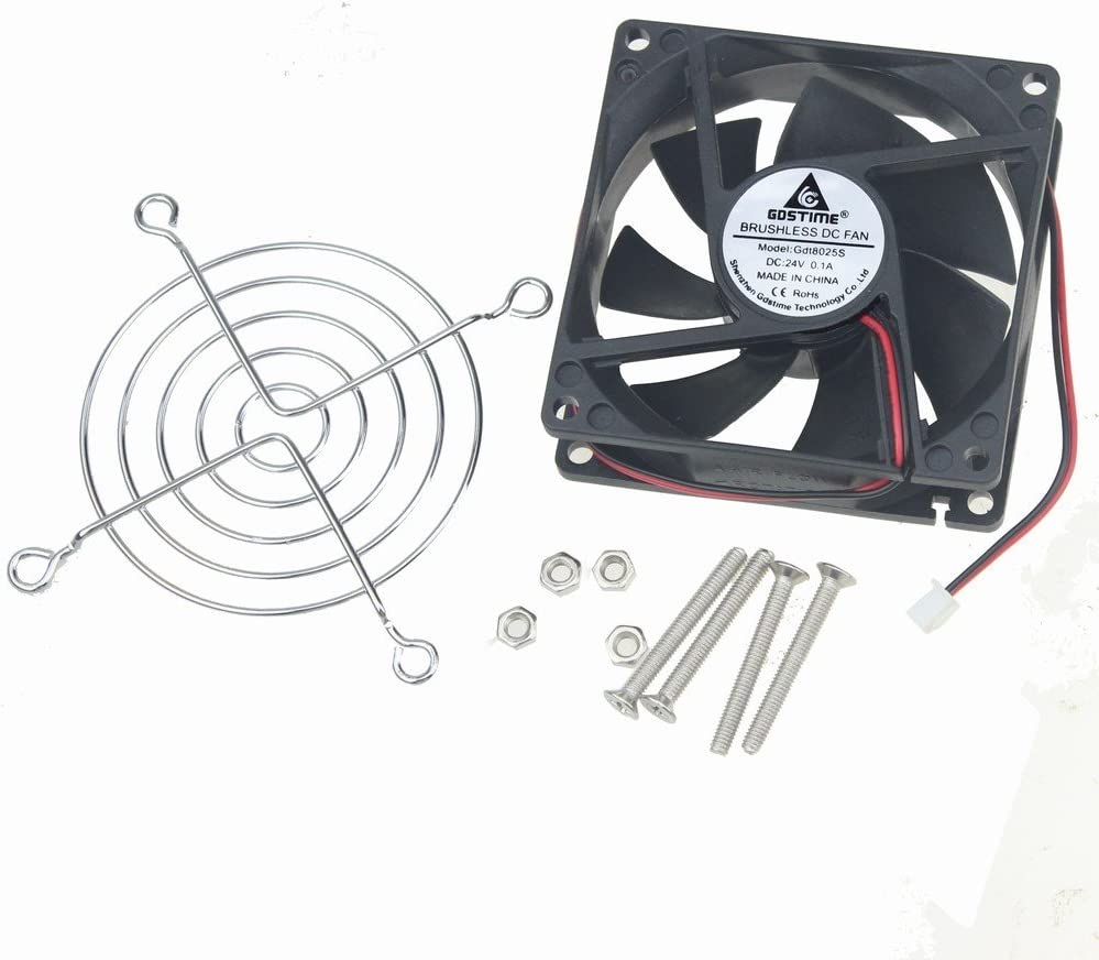 GDSTIME 80mm x 80mm x 25mm 24V Brushless DC Cooling Fan