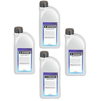 Spares2go - Aceite semisintético de motor de 2 tiempos (1 litro ...