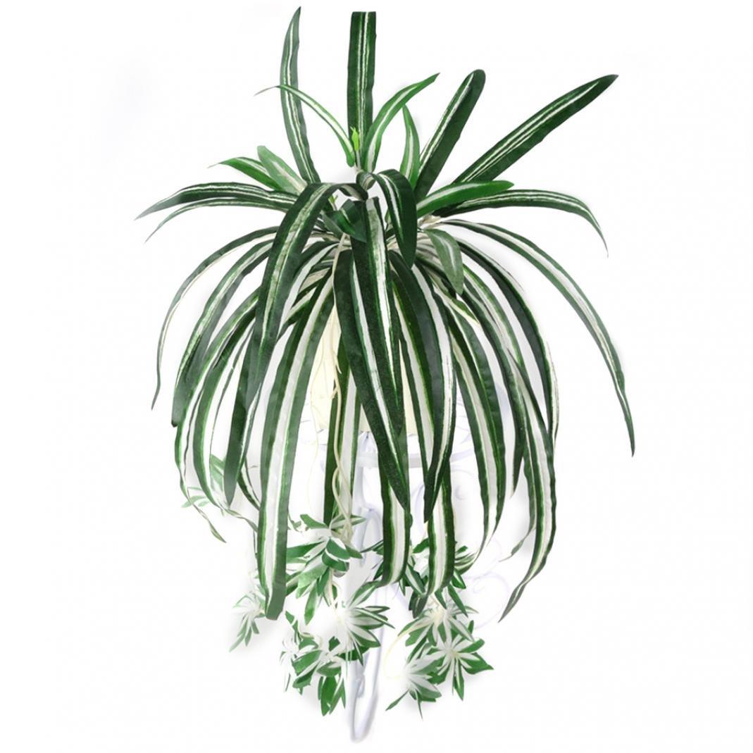 Zhouba 1pièce Chlorophytum Comosum simili verdure Maison Hôtel Decor Plante artificielle Spider, Plastique, Green, Taille unique