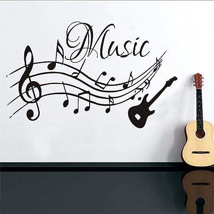 Wsxxnhh Notas Musicales De Alta Calidad, Música, Guitarra, Vinilo, Vinilos Decorativos,