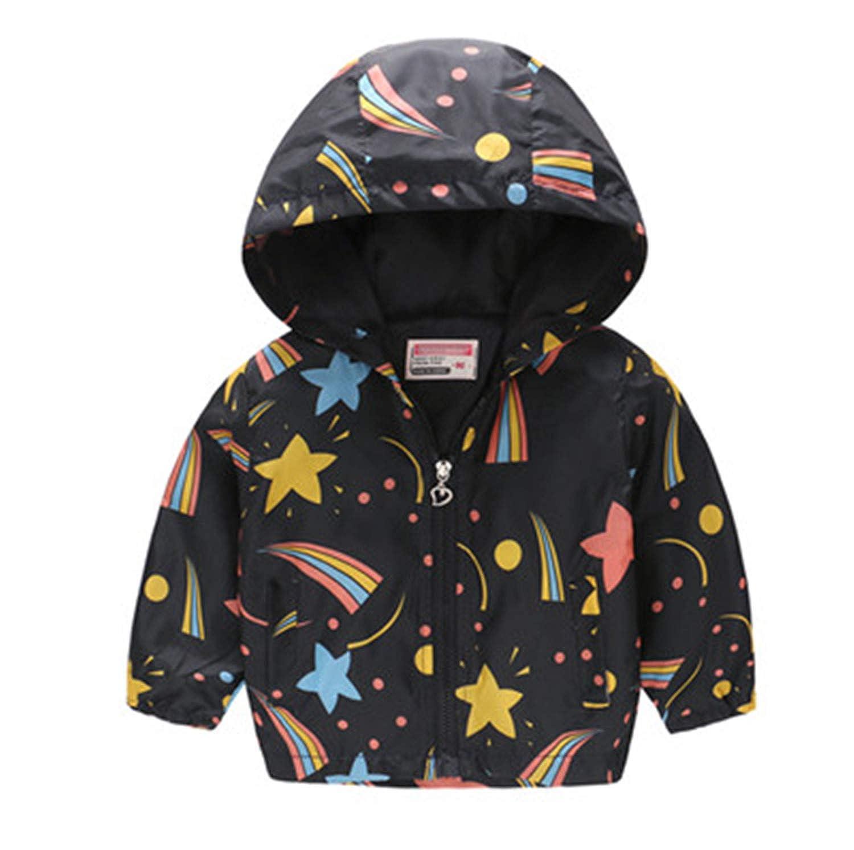 Susie Zechariah Girls Jackets Hooded Windbreaker Infant Waterproof Hoodies Toddler Coat 2-7T