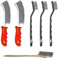 YWQ 6-delad trådborstset, repborstar, borstuppsättning, rostfritt stålborste, skrapborste (rostfritt stål…