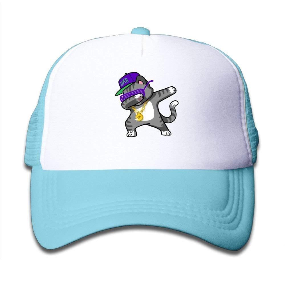DAB Hip Hop Dabbing Kitten Mesh Baseball Hat Trucker Cap Boy Girl Dabbing Cat Funny