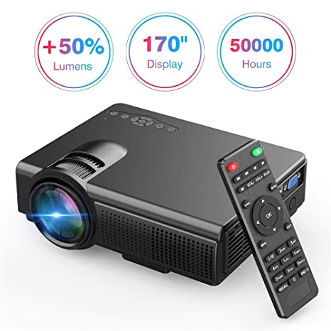 Amazon.com: Upgrade Lumens Q5 Mini Projector, with Big ...