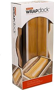 "WRAPdock | 6"" x 3"" x 13.75"" | Dual storage kitchen solution helping you use your aluminum foil, plastic wrap, wax paper, etc. Holds any 2 rolls (Reynolds Wrap, Glad Plastic Wrap, Saran wrap, Cut-Rite)"