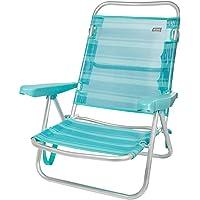 Aktive 53962 Silla multiposición aluminio Beach, 108 x