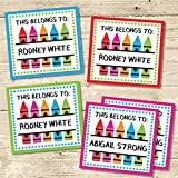 Back To School Sticker Labels, School Supply Labels, Name Labels For School Supplies, This Belongs To Labels, This Belongs To Stickers, Kids Back To School Sticker Labels