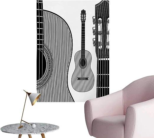 zhaoxuefa Guitarra de Papel de Pared con diseño de Guitarra ...