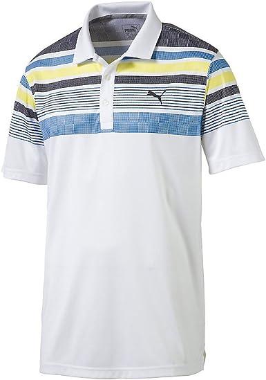 PUMA Golf 2017 Camiseta de Manga Larga para Hombre Polo de Rayas ...