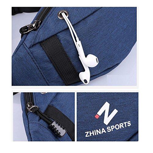 B Messenger D Men's Pack Single Sports Shoulder Bag Functional Canvas Phone Chest Bag Mini Multi Mobile ZzTZ6rp