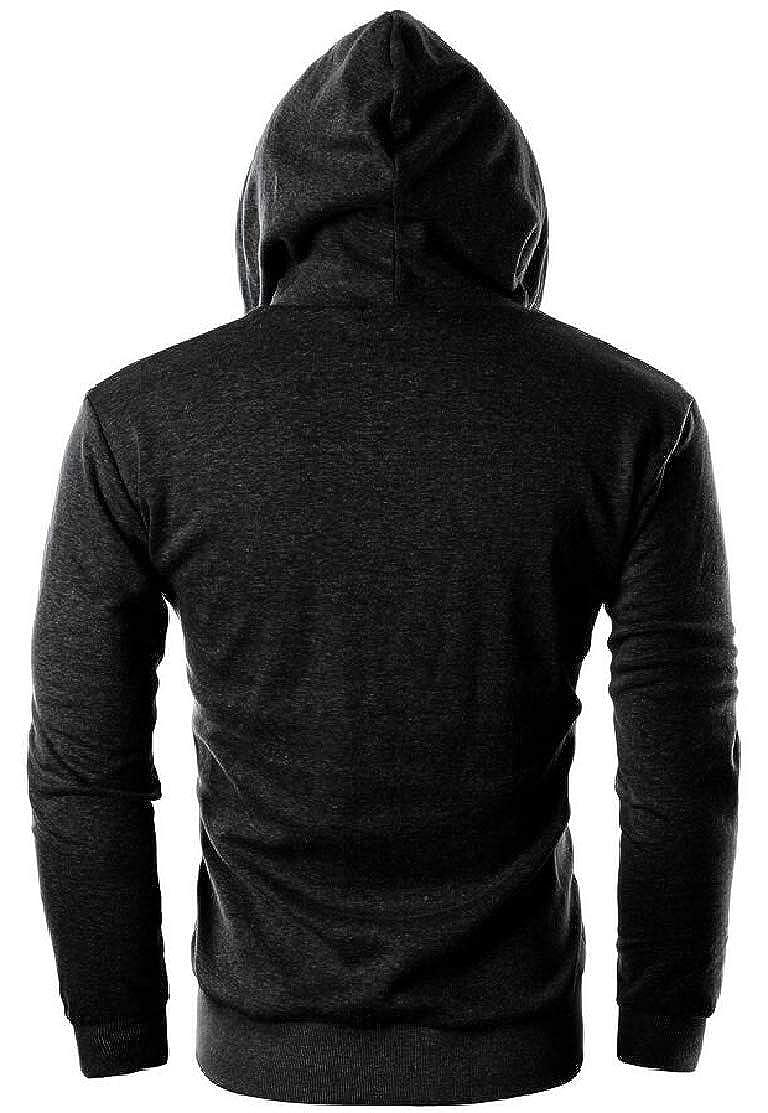 S-Fly Mens Fashion Hooded Pockets Zip-Up Drawstring Sweatshirt Jacket