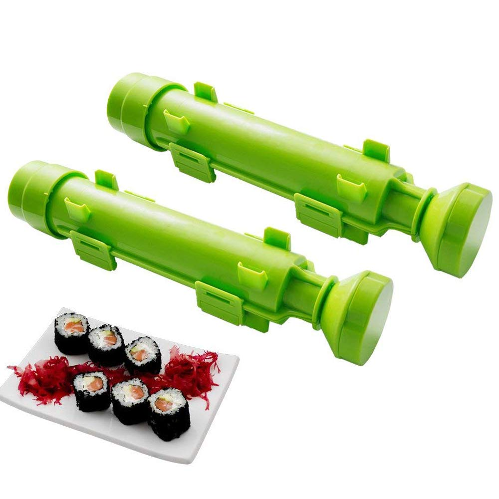 Sushi Bazooka,DIY Sushi Making Kit Sushi Roller Make Easy for Home 2- pack by Winnes