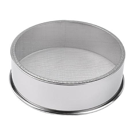 UU19EE Práctica harina de Malla de Acero Inoxidable Tamiz tamiz colador Tamiz de la Torta para Hornear Herramientas de Cocina