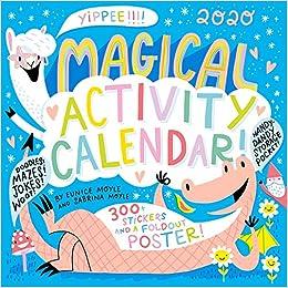 Amazon Com Magical Activity Wall Calendar 2020 9781523507993 Moyle Sabrina Moyle Eunice Workman Calendars Books