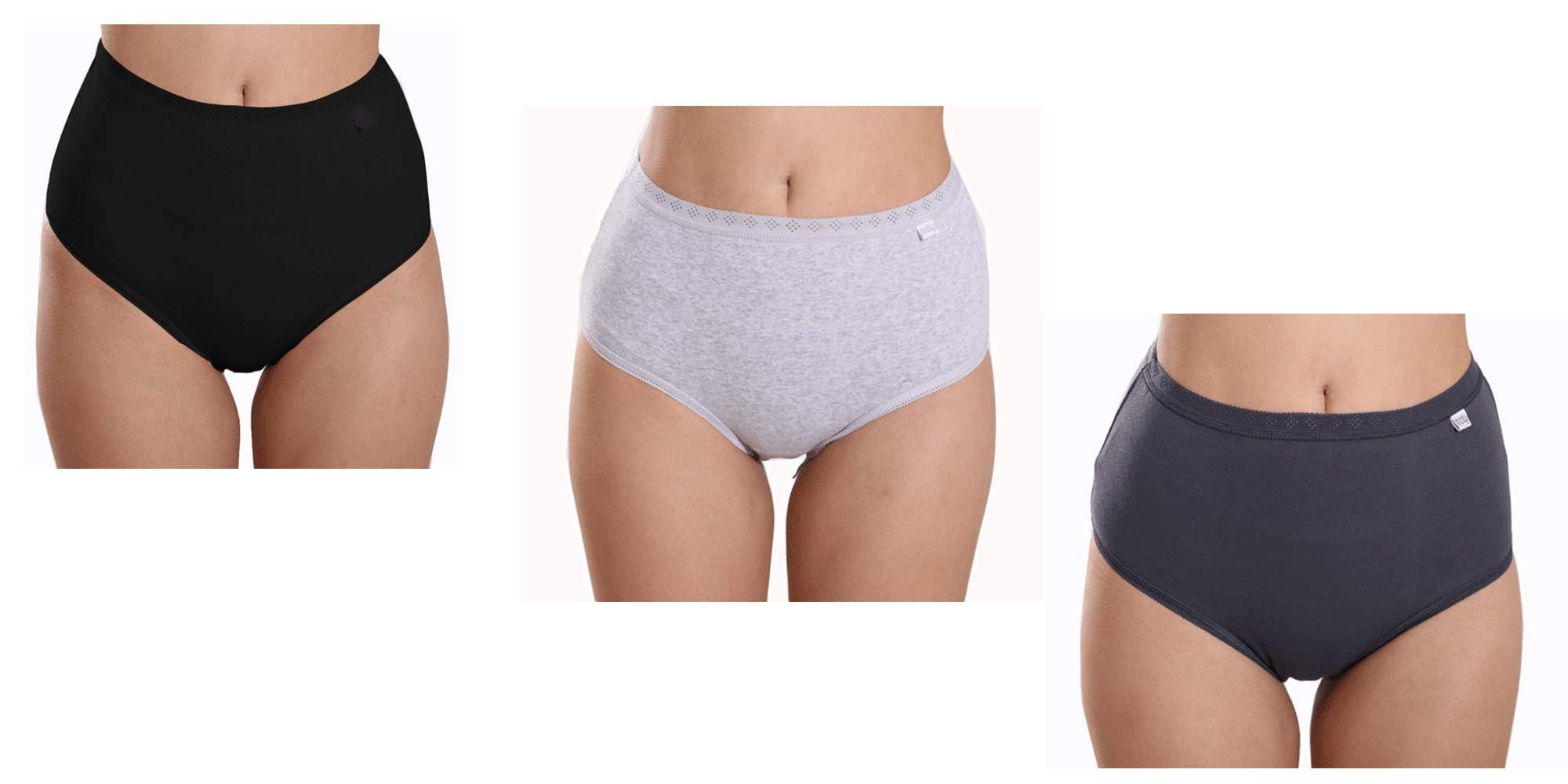 d741df036b8a SOUTEAM Women High Waist Briefs Underpants Cotton Breathable Tummy ...