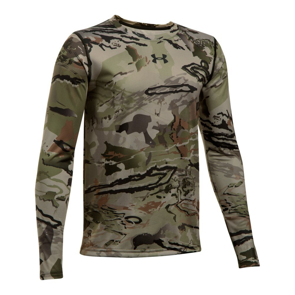 Under Armour Boys Scent Control Tech Long Sleeve Top, Ridge Reaper Camo Ba /Black, Youth Medium by Under Armour