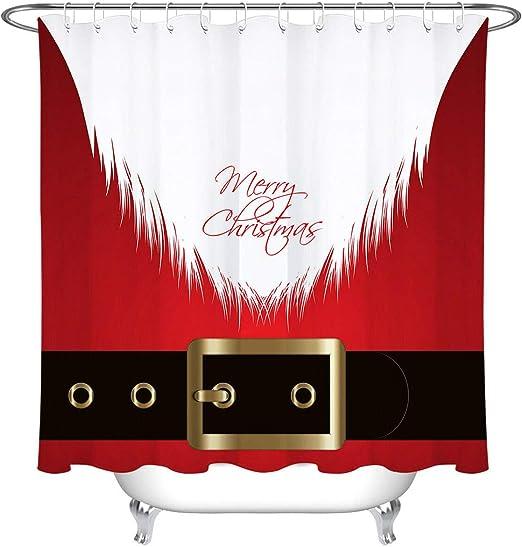 hdrjdrt Disfraz de Santa Claus Cortina de Ducha decoración de baño ...