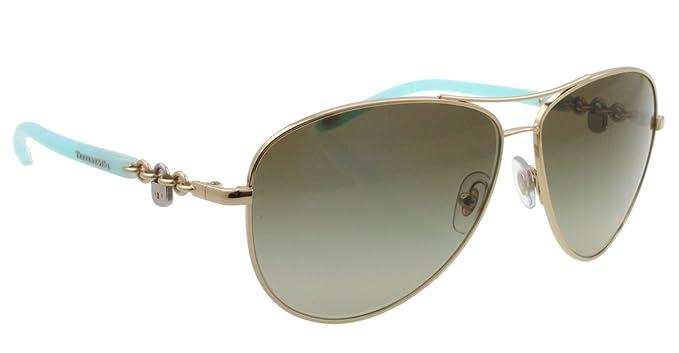 2779f9b5891 Amazon.com  Tiffany TF3034 60213M Pale Gold TF3034 Pilot Sunglasses Lens  Category 2 Size 60  Tiffany  Shoes