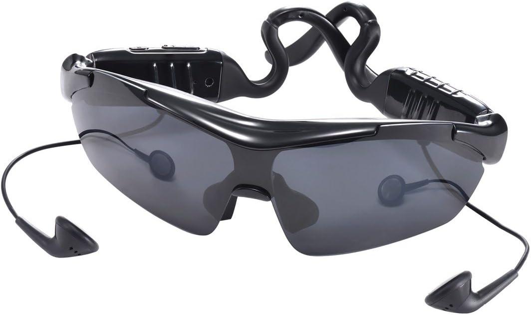PRECORN Lunettes de Soleil Bluetooth Smart Sport Lunettes de Soleil | Casque stéréo Bluetooth de Haute qualité | Nouvelle Technologie Touch Control |