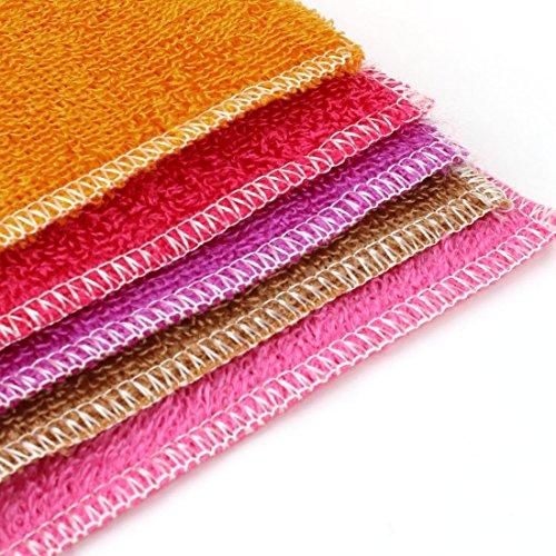 Amazon.com: eDealMax fibra Electrodomésticos Cocina Plato de lavado Toallas 30cm x 20cm 5 piezas de colores surtidos: Kitchen & Dining