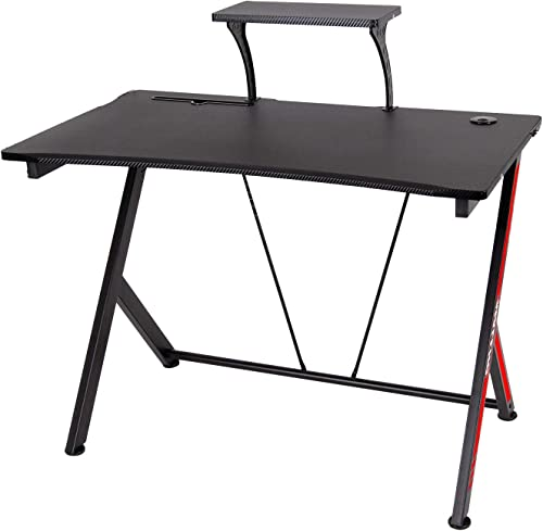 Polar Aurora Y-Sharped Gaming Desk 41.6″ W x 24″ D Home Office Computer Table