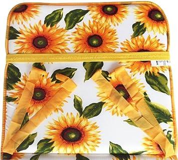 Modell Cairo Bianco aus Baumwolle mit Fu/ßauflage Universal-Auflage f/ür Liegestuhl Muster Sonnenblumen faltbar