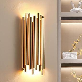 WAOBE G9 Wandleuchte Modern Minimalist Kreativ Für Hotel Schlafzimmer  Wohnzimmer Esszimmer Dekoration Metall Aluminium Wasserleitungen Golden