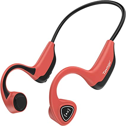 Amazon.com: Tayogo Bone Conduction Headphones with Microphone Bluetooth 5.0 Open Ear Wireless Earphones for Running, Sports, Fitness - Red: Home Audio & Theater