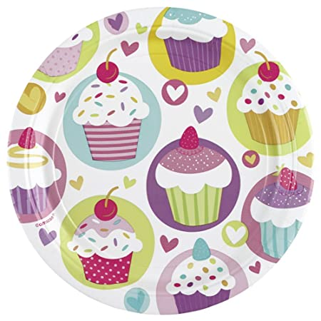 Amscan 23 cm Cupcakes 8 Paper Plates  sc 1 st  Amazon UK & Amscan 23 cm Cupcakes 8 Paper Plates: Amazon.co.uk: Kitchen u0026 Home