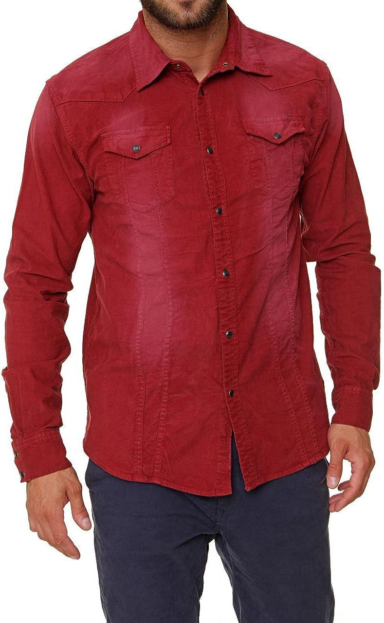 Scotch & Soda Camisa AMSTERDAM COUTURE para hombre, Color: Burdeos, Talla: M: Amazon.es: Ropa y accesorios
