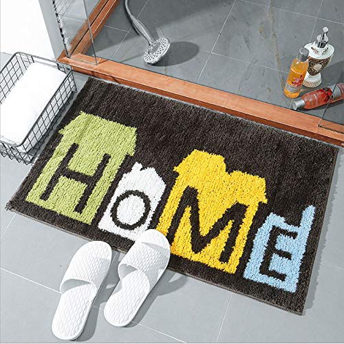 - Feiw Anti Slip Rubber Back Bathroom Antibacterial Rug Soft Water Absorbent Luxury Bathroom Door Mat