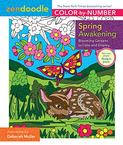 Pdf Crafts Zendoodle Color-by-Number: Spring Awakening: Blooming Gardens to Color and Display