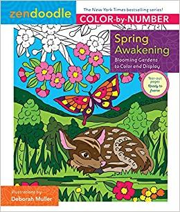zendoodle color by number spring awakening blooming gardens to color and display amazonca deborah muller books - Color By Number Books