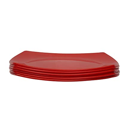 Homray Opulent Microwave Safe u0026 Unbreakable Red Square Half Plates/Quarter Plates  sc 1 st  Amazon.in & Buy Homray Opulent Microwave Safe u0026 Unbreakable Red Square Half ...