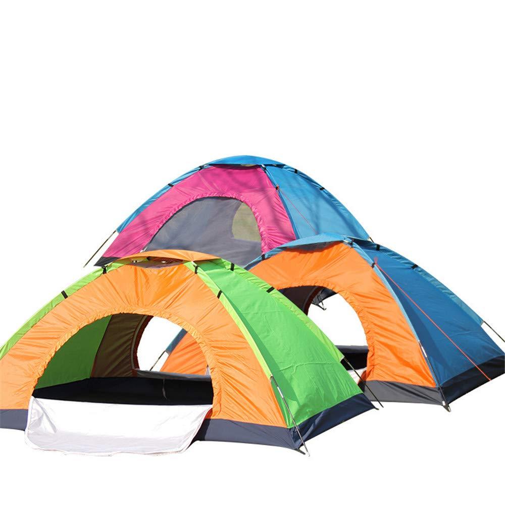 Xiaoqin Wasserdichtes Familien-Campingzelt Im Freien 2 Person Anti-Starker Regen Single Layer Aluminium Pole Ultra-Light Manuell Camping Zelt mit Nais und Seilen Camping Festival Familienzelt