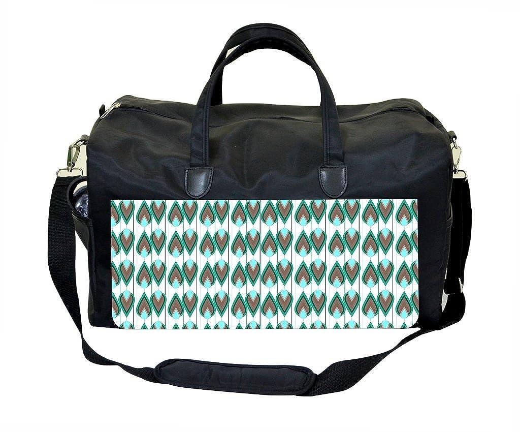 Peacock Stripe Pattern Gym Bag