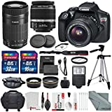 Canon EOS Rebel T6 EF-S 18-55 + 55-250 Lens w/ Accessory Bundle