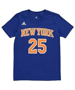 NBA New York Knicks Derrick Rose Boys 8 - 20 Hoja de Tiempo de Juego Azul Nombre y número Camiseta, Azul: Amazon.es: Deportes y aire libre