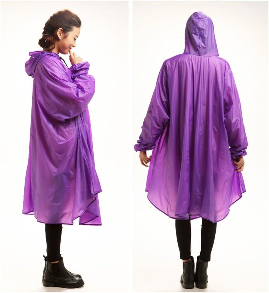 Manteau de Pluie Femmes Poncho Électrique Léger Raincoat Light pour Homme (Couleur : Bleu) Violet