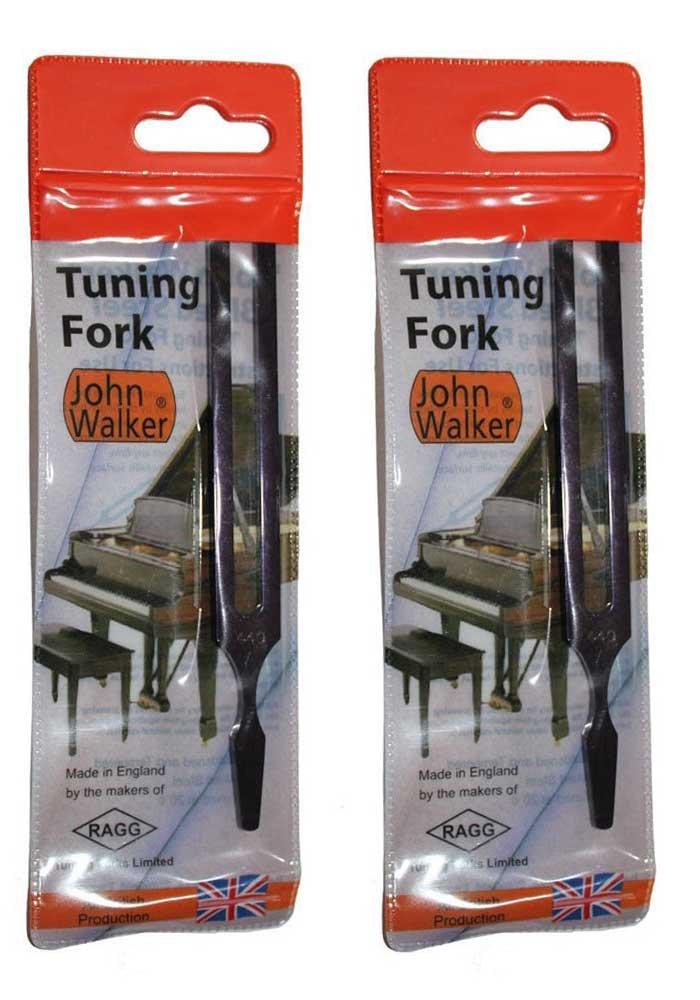 Set of 2 John Walker Professional Grade Tuning Fork A-440 /& C-523.3