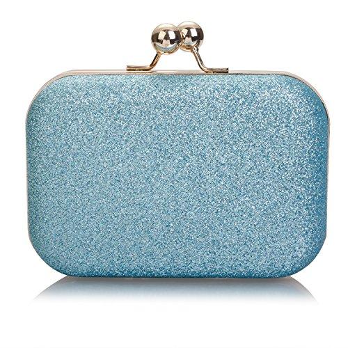 One size mujer Sintético para Material Azul de Cartera Claro mano Audixius de AcwR4aZZq