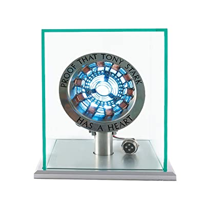 New Version 1:1 Iron Man Arc Reactor MK1,with LED Light,Touch Sensitive, No Remote Control Required,Totally Easy Assembly,USB Charge (with Display Case): Toys & Games