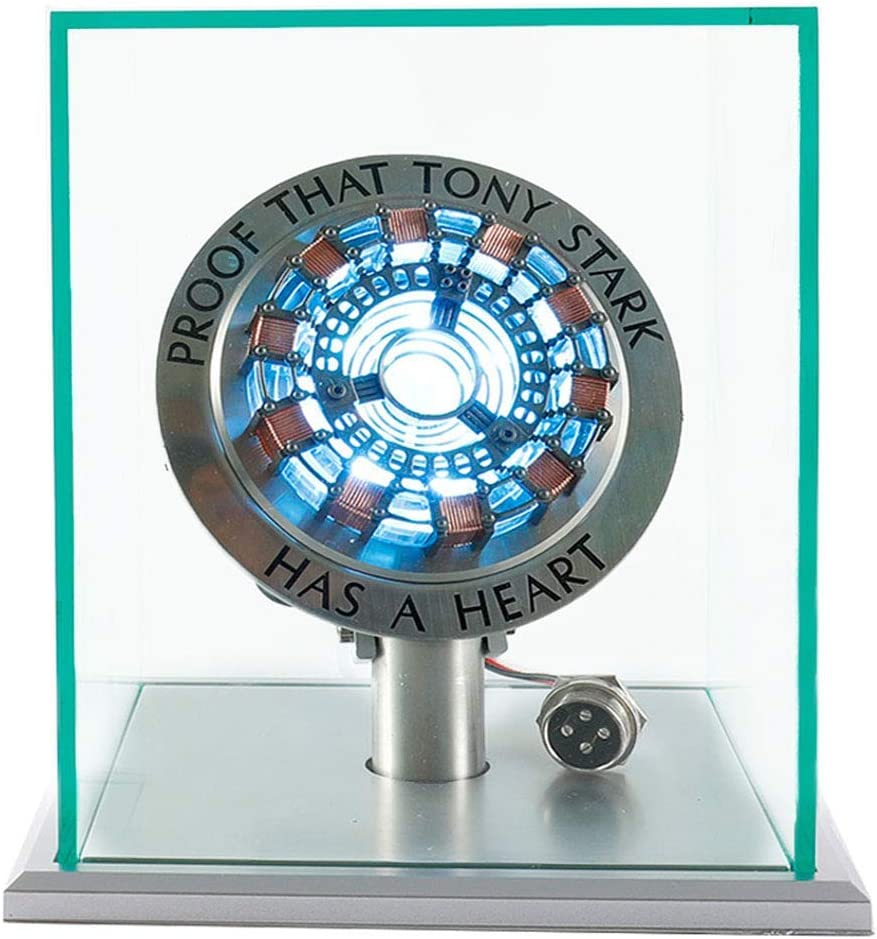 The Avengers Iron Man Tony DIY MK1 Arc Reactor Prop Stand Base Glass Case