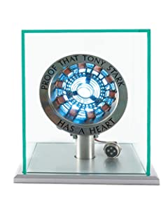 New Version 1:1 Iron Man Arc Reactor MK1,with LED Light,Touch Sensitive, No Remote Control Required,Totally Easy Assembly,USB Charge (with Display Case)