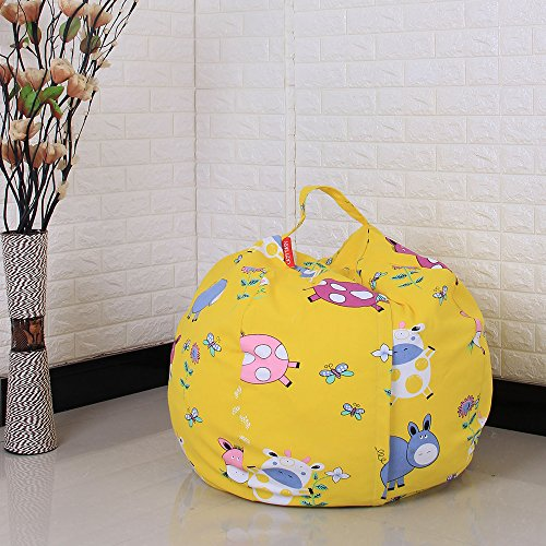 Comfortable Storage Bags Plush Toy Organizer Sofa Fabric Chair Sitting Plush Toys with Carrier Handle Interesting by Fdrirect