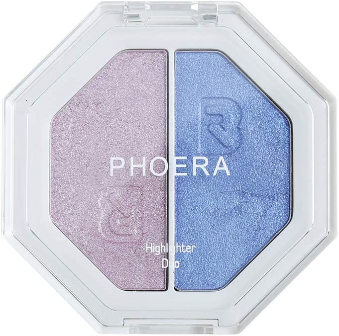 Barhalk PHOERA Two-Tone Eye Shadows Face Highlighter Perfect Colors Eye Shadow Palettes Glitter Shimmer New Nude Makeup Eye Shadow Powder Professional High Pigment Beauty Eye Cosmetics