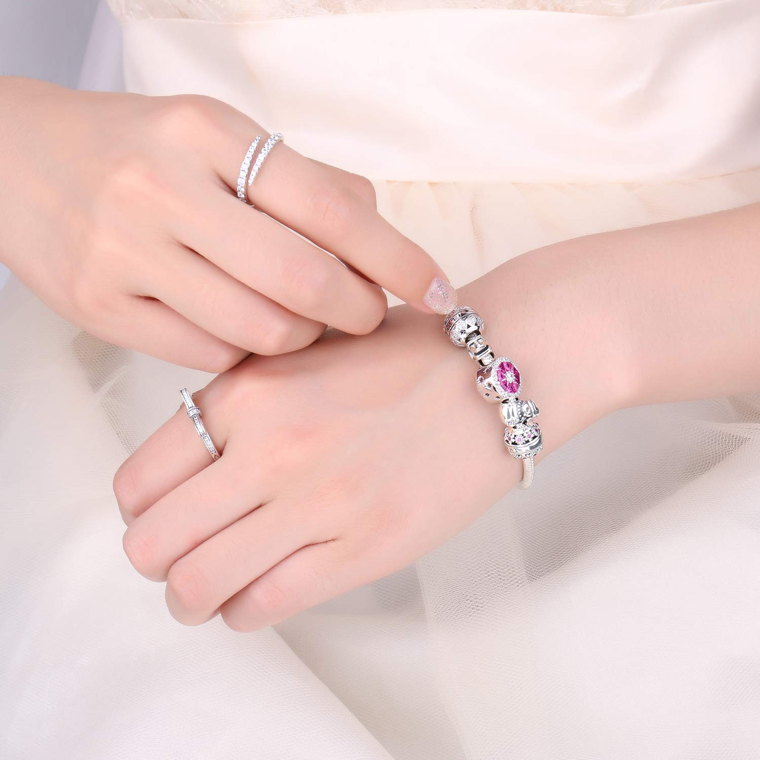 JewelryPalace Family Love Collection Beads Charm fit Bracelet 925 Sterling Silver