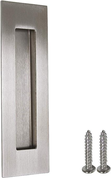Tiradores de puerta corredera de acero inoxidable satinado para ...